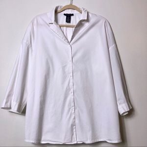Lafayette 148 white top size XL embellished neck
